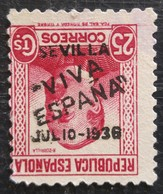 Timbre Local Patriotique De Seville N° 7i  Neuf Sans Gomme - Nationalistische Uitgaves