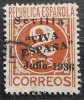 Timbre Local Patriotique De Seville N° 19 - Emissions Nationalistes