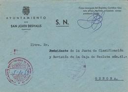 35465. Carta S.N. Franquicia Ayuntamiento SAN JORDI DESVALLS (Gerona) 1959. Fechador San Jordi Desvalls - 1951-60 Briefe U. Dokumente