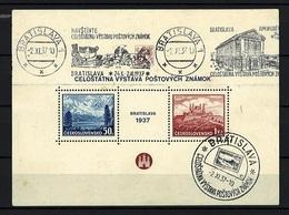 1937 - Michel: 384-385 Block 1 - Cancelled - Tschechoslowakei/CSSR