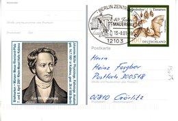 """BRD Amtl.GZS-Sonderpostk.PSo 75 """"BM+Münzen Messe Rheinland-Pfalz"""" WSt """"Große Hufeisennase"""" SSt.13.8.2001 BERLIN - [7] Repubblica Federale"""