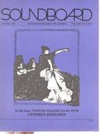 Revue Guitare Soundboard Guitar Fondation Of America N° 4 - 1991 - Stephen Dodgson - Art