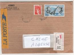 Beaux Timbres , Stamps Sur Lettre Recommandée ( Registered Letter ) Du 06/11/1990 Pour La France - France