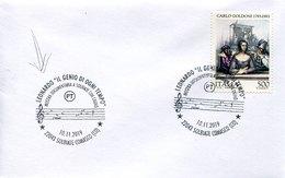 50568 Italia, Special Postmark 2019 Solbiate , Leonardo Da Vinci The Genius Of All Time,le Génie De Tous Les Temps - Altri