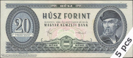 TWN - HUNGARY 169g - 20 Forint 30.9.1980 DEALERS LOT X 5 - Various Series F/VF - Hungary