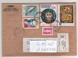 Beaux Timbres , Stamps Sur Lettre Recommandée ( Registered Letter ) Du 28/12/1990 Pour La France - France