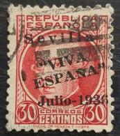 Timbre Local Patriotique De Seville N° 25 - Emissioni Nazionaliste