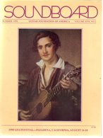 Revue Guitare Soundboard Guitar Fondation Of America N° 2 - 1990 -  Gfa Festival Pasadena - Art