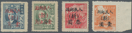 """China - Volksrepublik - Provinzen: China, Northwest China, Xinjiang, 1950, Stamps Overprinted With """" - 1949 - ... République Populaire"""