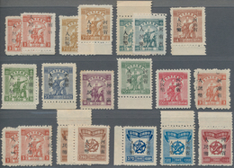 "China - Volksrepublik - Provinzen: China, Central China, Henan, 1949, Stamps Overprinted With ""Henan - 1949 - ... République Populaire"