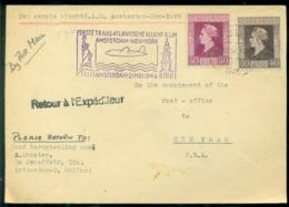 Nederland 1946 Eerste Transatlantische Vlucht KLM Naar New York Terug Met De Boot VH A 239 A - Poste Aérienne