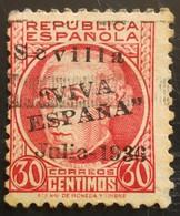 Timbre Local Patriotique De Seville N° 25 - Emissions Nationalistes
