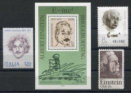 RC 15290 EINSTEIN LOT DDR ITALIE CHINE USA NEUF ** MNH - Albert Einstein