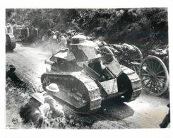 GRANDE PHOTOGRAPHIE ANCIENNE TANK TANKISTE CHAR D'ASSAUT GUERRE MILITAIRE PALESTINE ISRAEL - Guerra, Militares
