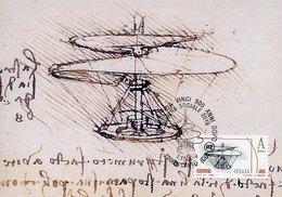 50571 Italia, Maximum 2019 Cantù Leonardo Da Vinci 500 Years Later,500 Jahre Später,500 Ans Plus Tard,helicopter, - Arte