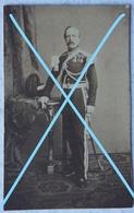 Photo ABL Officier Armée Belge Circa 1875 Belgische Leger Photographe J DUPONT Antwerpen Sabre Sword - Anciennes (Av. 1900)