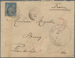China - Fremde Postanstalten / Foreign Offices: France, Navy Mail In Peace Time, 1892, Type Sage 15 - China