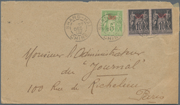"""China - Fremde Postanstalten / Foreign Offices: France, 1894/1900, Ovpt. """"Chine"""" On Type Sage, Two C - China"""