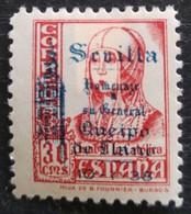Timbre Local Patriotique De Seville N° 84 Neuf Charnière - Nationalistische Ausgaben