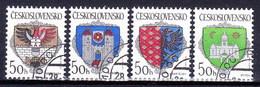 Tchécoslovaquie 1990 Mi 3042-5 (Yv 2843-6 ), Obliteré - Tsjechoslowakije