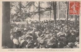 CPA:LA CASSINE (08) FÉDÉRATION PATRONAGES PARC CHÂTEAU DE LA CASSINE JUILLET 1911..ÉCRITE - France