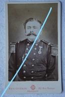 Photo ABL Officier Armée Belge Circa 1875 Belgische Leger Militaria Photographe Eugène GUERIN Bruxelles Uniforme - Krieg, Militär