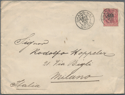 """China - Fremde Postanstalten / Foreign Offices: France, 1894, Ovpt. """"Chine"""" In Black On 50 C. Tied """" - China"""