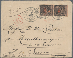 China - Fremde Postanstalten / Foreign Offices: France, 1895, To Samos/Turkey Empire (Greece): Offic - China