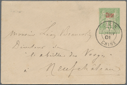 """China - Fremde Postanstalten / Foreign Offices: France, 1901, 5 C. Tied """"PEKIN 17 AVR 04"""" In Combina - China"""
