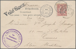 China - Fremde Postanstalten / Foreign Offices: 1904, French P.O.China, 10 C Red (MiNr.20), Tied By - China