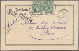 "China - Fremde Postanstalten / Foreign Offices: 1904, 5 C. Green Horiz. Pair Tied ""TIENTSIN 30 DEC 0 - China"