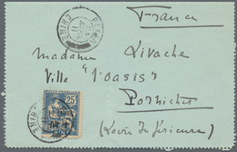 China - Fremde Postanstalten / Foreign Offices: France, 1907, Type Mouchon 10 C./25 Ct., Two Covers: - China