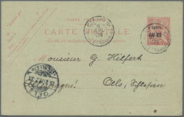 China - Fremde Postanstalten / Foreign Offices: France, 1907, Stationery Card Type Mouchon 4 C./10 C - China