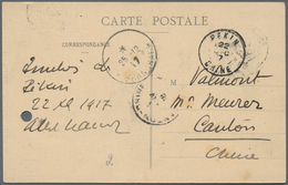 China - Fremde Postanstalten / Foreign Offices: France, 1912/22, Type Mouchon Surcharged: 6 C./15 C. - China