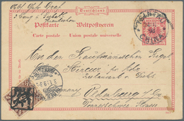 """China - Fremde Postanstalten / Foreign Offices: 1898, Coling Dragon 1/2 C. Tied Boxed """"Kiaochow"""" To - China"""