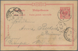 China - Fremde Postanstalten / Foreign Offices: 1898 German Postal Stationery 10 Pf Used At Local Po - China