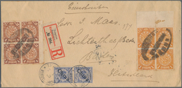 China - Fremde Postanstalten / Foreign Offices: 1900 GERMAN PO, Vertical Pair 20 Pf Blue Together Wi - China