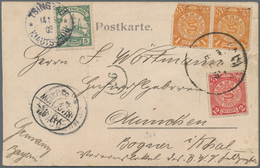 """China - Fremde Postanstalten / Foreign Offices: 1902: 5 Pf Green Tied By """"TSINGTAU 14.5.02"""" Together - China"""