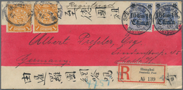 China - Fremde Postanstalten / Foreign Offices: Germany, 1902 Coiling Dragon 1 C.(2) Tied Lunar Date - China