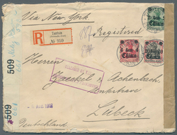 China - Fremde Postanstalten / Foreign Offices: 1906/1919, German POs 2C,4C And 20 C On Commercial R - China