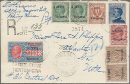 China - Fremde Postanstalten / Foreign Offices: Italy, 1922, Tientsin Ovpts: 12 C./30 Cts. EXPRESS S - China