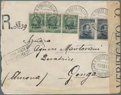 China - Fremde Postanstalten / Foreign Offices: Italy, 1917, Peking Ovpts., Inverted Surcharge On Th - China