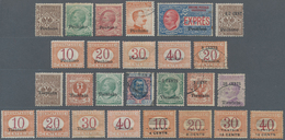 China - Fremde Postanstalten / Foreign Offices: Italy, 1917/19, Assortment Of 32 Different Mint/used - China