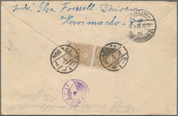 China - Fremde Postanstalten / Foreign Offices: 1929, Registered Cover From DAIREN With Backside Use - China