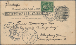China - Fremde Postanstalten / Foreign Offices: 1900, USA, Stationery Card 1 C. Uprated 1 C. Green T - China