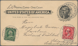 China - Fremde Postanstalten / Foreign Offices: 1901, USA Stationery Card 1 C. Uprated 1 C. Green An - China