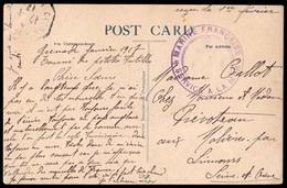 BC - Grenada. 1917 (Jan.). Grenada (return Of Small Antillas). French Navy Vessel In British Antilles During WWI. Violet - Unclassified