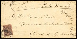 MEXICO. 1870 (4 Aug.). Sc. 64º. Mexico To Hacienda De Santa Ana Pacueco / Michoacan, Via Por La Piedad. Registered Compl - Mexique
