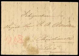 ARGENTINA. 1842 (10 June). ARGENTINA - SWEDEN - URUGUAY. Buenos Aires To Christianstad / Lillo / Sweden. EL. Carried By - Argentine