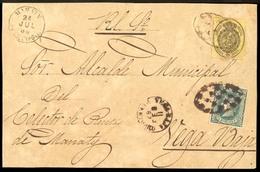PUERTO RICO. 1867 (11 Feb.). Esp. Ed. 35, Ant. Ed. 10º (variedad Papel Blanco). Manatí A Vega Baja. Frente Oficial Con F - Puerto Rico